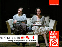 at said, a play by Gary Winter